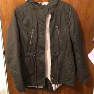 Jackets & Blazers - Khaki colored winter coat